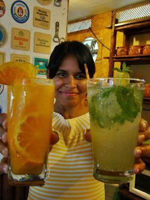 Chuflay e mojito: drinques andinos servidos por Alessandra Carreno no Armazém Aliança  (Juliana Borre/CB Press)