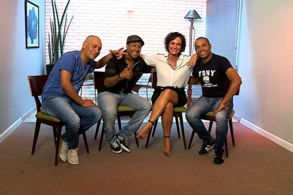 Integrantes do grupo Amigos do Pagode 90  (RedeTV!/Divulgação)