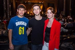Pedro Frazão, Luis Filipe Fonseca e Hannah Brow (Rômulo Juracy/Esp. CB/D.A Press)