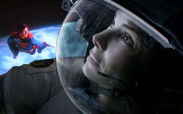 Sandra Bullock no papel principal de 'Gravidade' (Youtube/Reprodução)