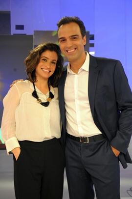 Renata Vasconcellos e Tadeu Schmidt, apresentadores do Fantástico  (Globo/João Cotta)