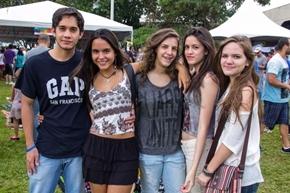 Felipe Duarte, Natália Magalhães, Laura Reis, Catarina Cavalcanti e Isabela Berrogain (Rômulo Juracy/Esp. CB/D.A Press)