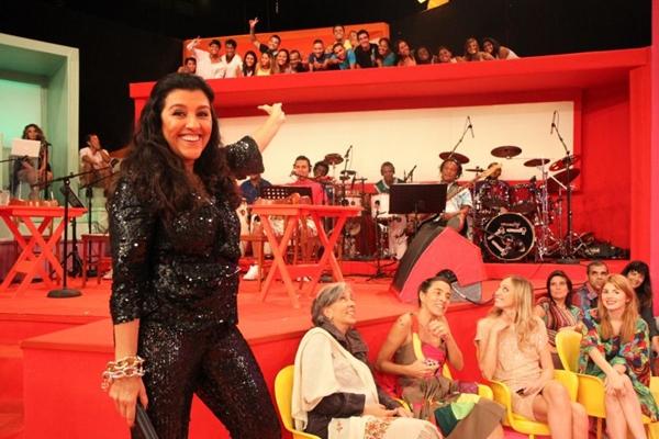 Regina Casé e o público do Esquenta  (Blenda Gomes/ TV Globo)