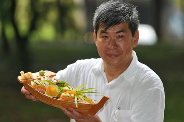 Chef Salti Sun, do restaurante Grande Muralha: sashimi é essencial à culinária oriental (Breno Fortes/CB/D.A Press)