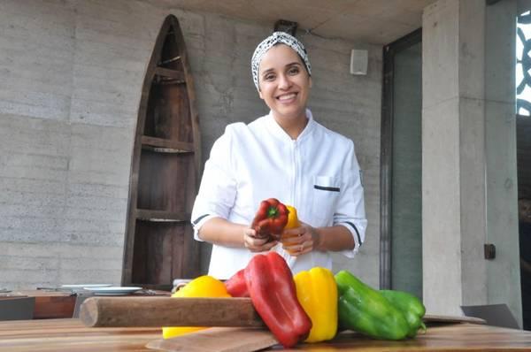 Chef Luciana Maia, do restaurante Nau, e as especialidades do Nordeste (Antonio Cunha/Esp. CB/D.A Press)
