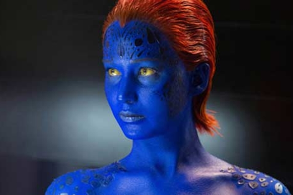 Jennifer Lawrence como Mística, do X-Men (Divulgação)