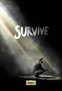 Pôster de divulgação da quinta temporada de The walking dead (AMC/Divulgação)
