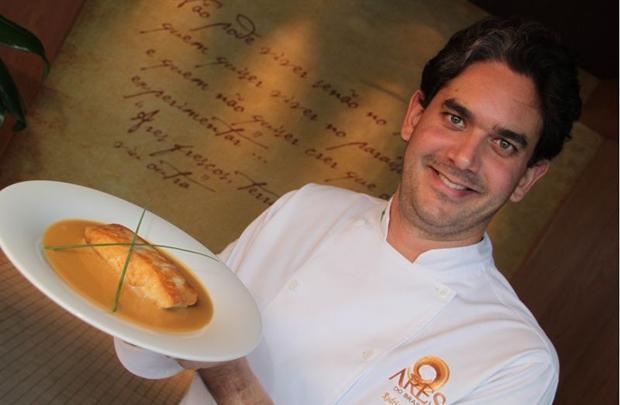 O chef Rodrigo Cabral busca referências nas viagens que faz (Lula Lopes/Esp. CB/D.A Press)