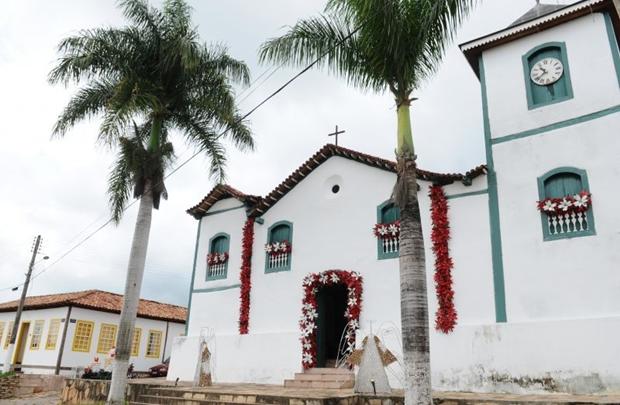 A Igreja Matriz foi construída em 1731 e abriga imagem de Nossa Senhora da Penha (Monique Renne/CB/D.A Press)