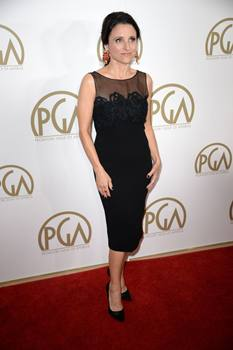 Julia durante a premiação do Emmy de 2013: ela conquistou o troféu de Melhor Atriz em série de comédia (AFP PHOTO / ROBYN BECK )