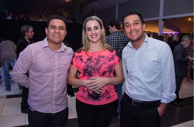 Alex Oliveira, Ticiane Guedes e Cristiano Batista (Romulo Juracy/Esp. CB/D.A Press)