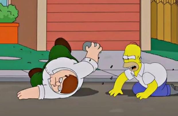 Homer Simpson e Peter Griffin vão competir para ver qual é a melhor cerveja: a de Springfield ou a de Quahog (Fox/Divulgação)