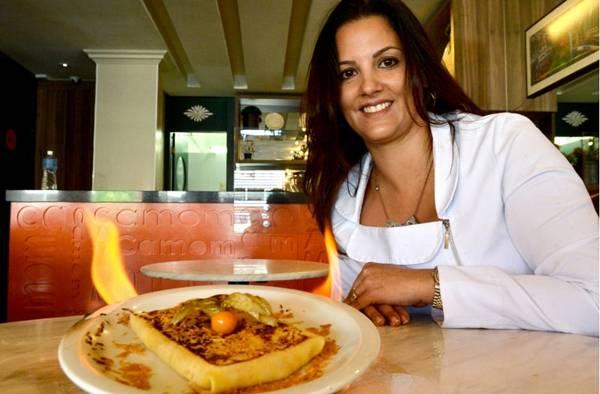 Ana Beatriz Birbeire é fascinada por alimentos flambados (Marcelo Ferreira/CB/D.A Press)