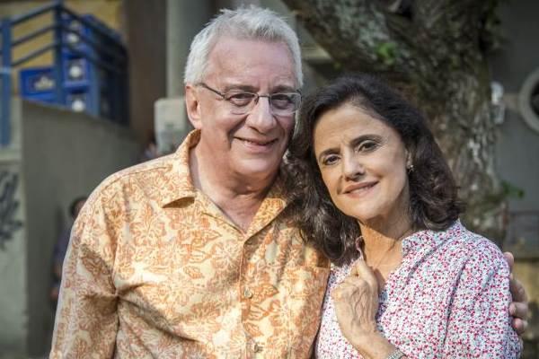 Marieta Severo e Marco Nanini trabalham juntos há 41 anos (Paulo Belote/Globo)