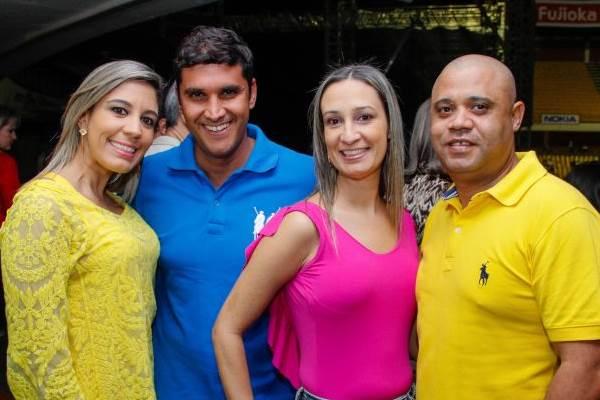 Vanessa Almeida, Marcelo Pereira, Luciene Almeida e Flávio Gonçalves ( Romulo Juracy/Esp. CB/D.A Press)