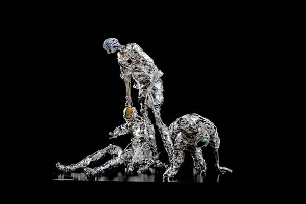 Esculturas do artista Zezão Miranda, em exibição na exposição 'É Gol!' (Divulgação)
