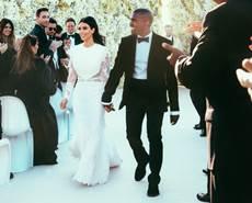 Kim e Kanye se casaram em Florença, na Itália (E! News/Divulgação)