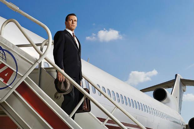 Don Draper (Jon Hamm) se despede no final desta sétima temporada (HBO/Divulgação)