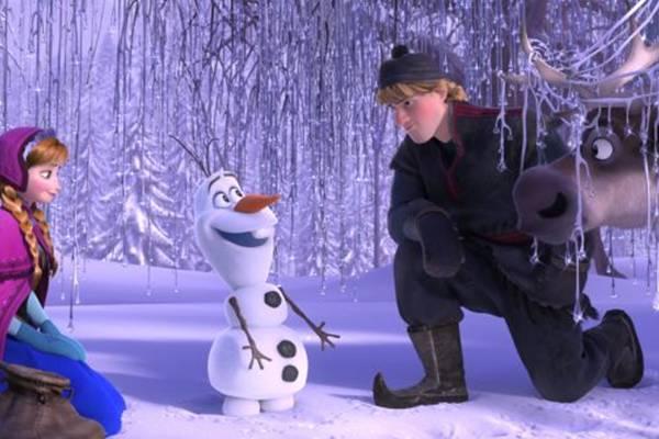 Cena do filme de desenho animado Frozen, uma aventura congelante (Walt Disney/Divulgação)