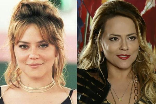 Vivanne Pasmanter como Laura, de 'Por amor' (1997) e Shirley, de 'Em família' (2014): vilãs usam a mesma artimanha para levar galã à cama em tramas assinadas por Manoel Carlos (TV Globo/Divulgação )