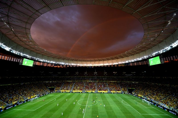 O estádio foi totalmente reformado para receber a Copa do Mundo 2014  (	Monique Renne/CB/D.A Press)