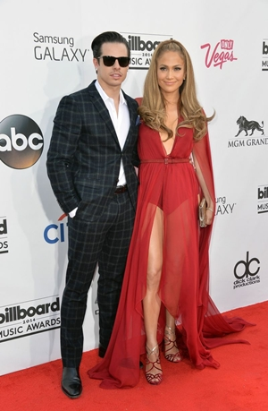 Casper Smart e Jennifer Lopez ( Frazer Harrison/Getty Images/AFP)