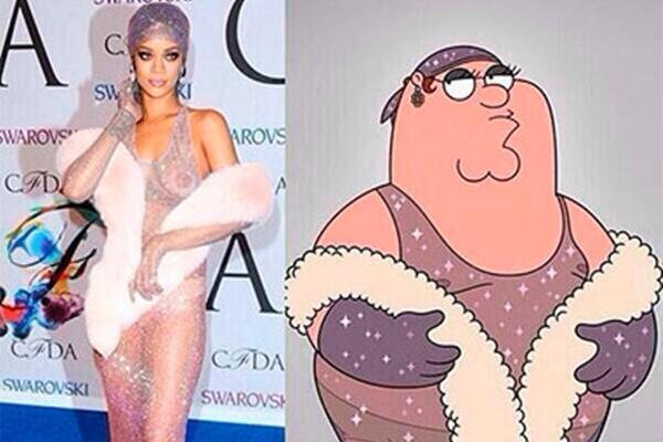 Imagem comparativa postada no Twitter da cantora Rihanna  (Twitter @rihanna/ Reprodução )