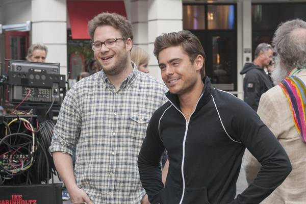 Comédia Vizinhos é estrelada por Seth Rogen e Zac Efron  (adorocinema/divulgação)