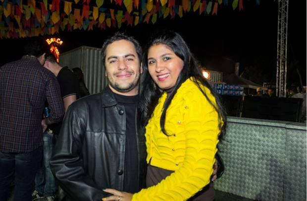 Antônio Inácio e Rose Dias no Arraiá Legis, na Ascade (Rômulo Juracy/Esp. CB/D.A Press)