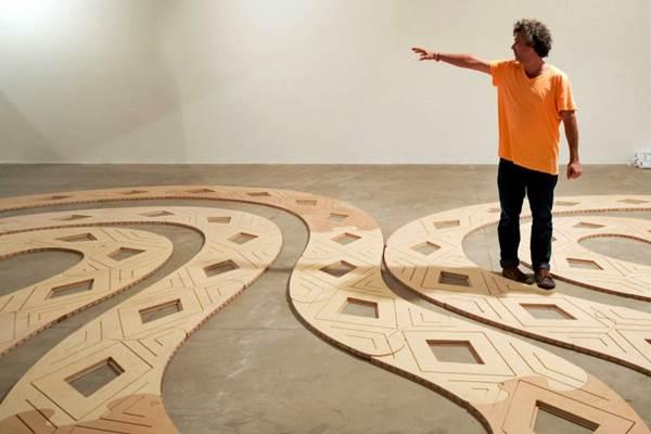 Obra de Ernesto Neto, para a exposição A experiência da Arte - Série Arte para Crianças, no Centro Cultural Banco do Brasil - CCBB (Joana França/Divulgação)
