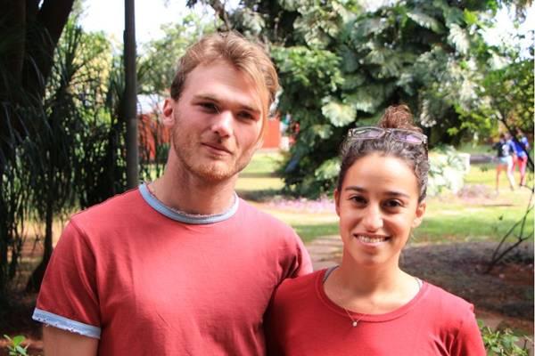 Thomas Humbert e Ynaee Benaben (Pedro Lins/CB/D.A Press)
