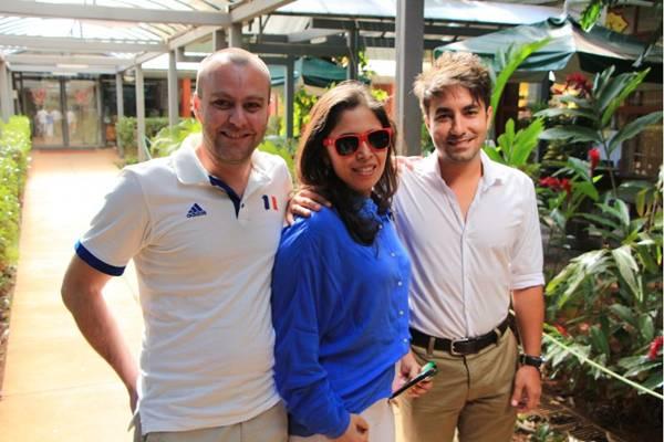 Gregóry Maindrot, Luanda Fernandes e Vinicius Guarilha (Pedro Lins/CB/D.A Press)