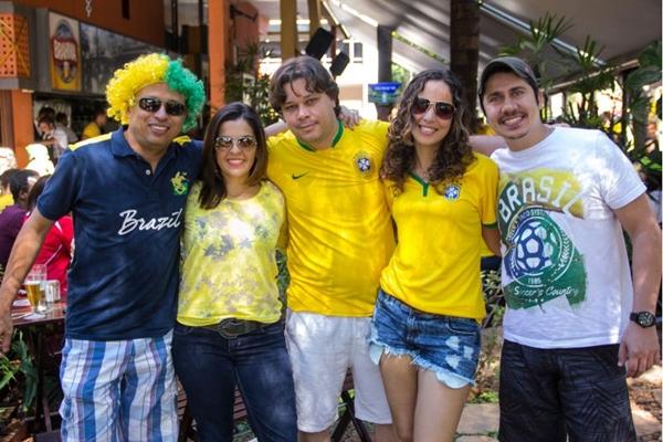 Francisco Silva, Milena Santos, Charles Junior, Ana Claudia e Conrado Vitor ( Romulo Juracy/Esp. CB/D.A Press)