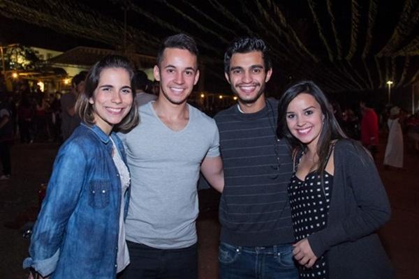 Marcela Ferro, Carlos Eduardo, Bruno Guerra e Mariana Clarim (Romulo Juracy/Esp. CB/D.A Press)