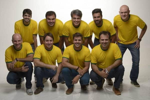 Grupo de produtores da festa Santa Copa, na Arena Budweiser  (Um Nome Comunicação/Divulgação)