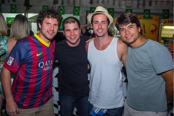 João Mariano, Lucas Schulze, Fernando Bo e Pedro Nunes (Romulo Juracy/Esp. CB/D.A Press)