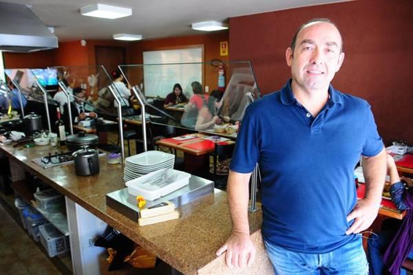 Projeto de lei das gorjetas. Antonello Monardo do Monardo Café (Bruno Peres/CB/D.A Press)