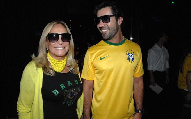 Susana e Sandro reataram durante festa da partida Brasil x Camarões, em junho (Augusto Mestieri/Divulgação)