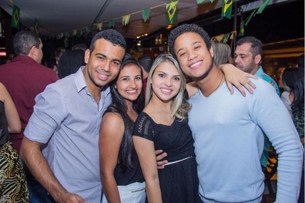 Higor Rodrigues, Eunice Cristina, Juliana Caldas e Caio Arcanjo (Romulo Juracy/Esp. CB/D.A Press)
