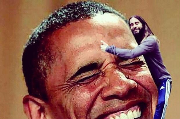 Nem o presidente Obama escapou da brincadeira (Reprodução)