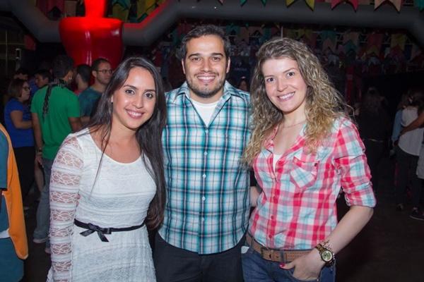 Larissa Oliveira, Wladmir Formiga e Beatriz Mendonça (Romulo Juracy/Esp. CB/D.A Press)