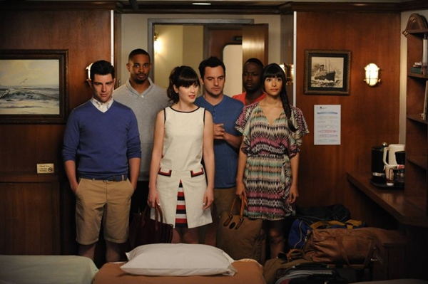 Cena do episódio final da terceira temporada de New girl ( Fox/Divulgação)