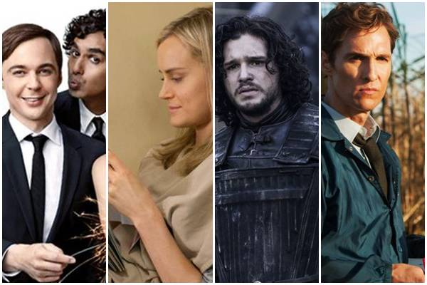 Seriados The big bang theory, Orange is the new black, Game of thrones e True Detective (WarnerBros/Divulgação, HBO/Divulgação, Jojo Whillden/Netflix )