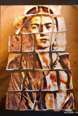 Justiceira - Obra que reflete a artista Frida  (Divulgação)