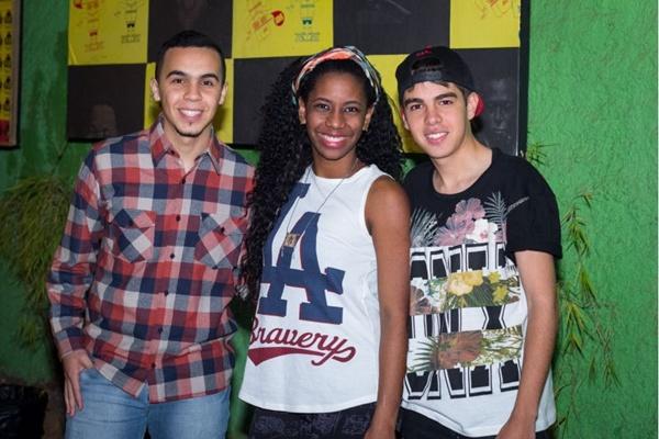 João Pedro Medeiros, Ludmila Chagas e Luan Araújo (Romulo Juracy/Esp. CB/D.A Press)