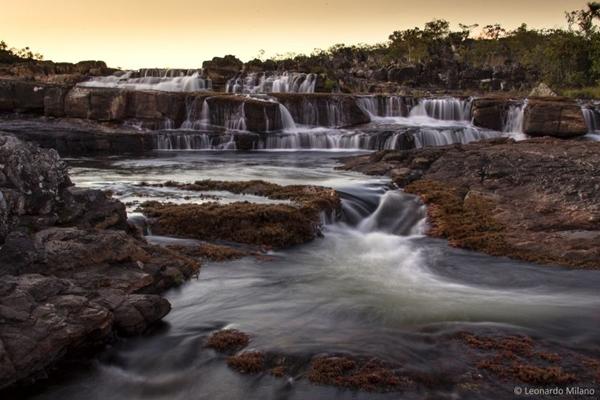 As cachoeiras da Chapada dos Veadeiros são uma atração à parte (Leonardo Milano/ICMBio)