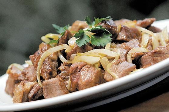 Alcatra acebolada: a carne mais magra é muito pedida pelos clientes preocupados com as calorias (Carlos Vieira/CB/D.A Press)