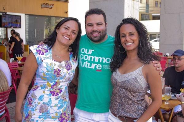 Sheyla Sousa, Vinicius Estrela e Ana Paula Vieira (Romulo Juracy/Esp. CB/D.A Press)