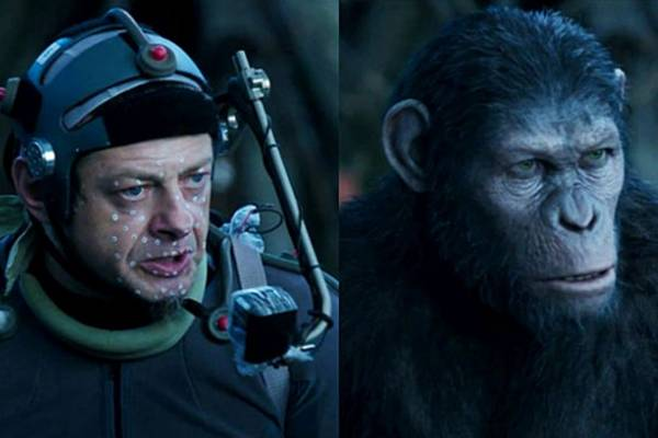 Andy Serkins na filmagem do filme 'Planeta dos Macacos - O confronto' (Fox Filmes/Divulgacao)