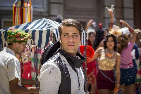 O último personagem de Bruno Gagliasso, Franz em cena da novela Joia Rara (Paulo Belote/TV Globo)